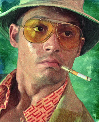 Johnny Depp Painting - Fear And Loathing by Taylan Apukovska