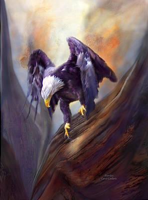 Eagle Mixed Media - Fearless by Carol Cavalaris