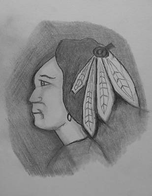 Chicago Blackhawks Drawing - Fearless Fighter by Terry Florczak