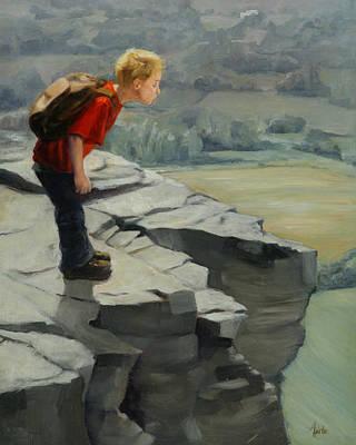 Heather Burton Painting - Fearless by Heather Burton