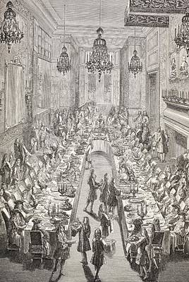 Feast Given For The Spanish Ambassador Print by Vintage Design Pics