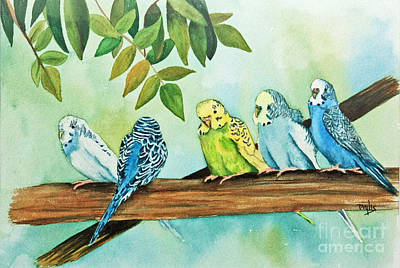 Feathered Friends Original by Terri Mills