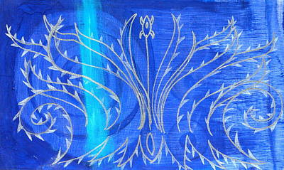 Feathers Print by Nina Bravo