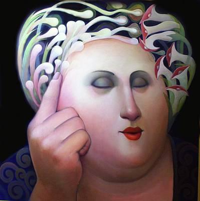 Heavy Woman Painting - Fecundina by Julio Venegas