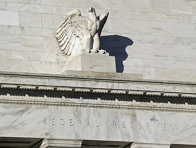 Federal Reserve Eagle Detail Washington Dc Print by Brendan Reals