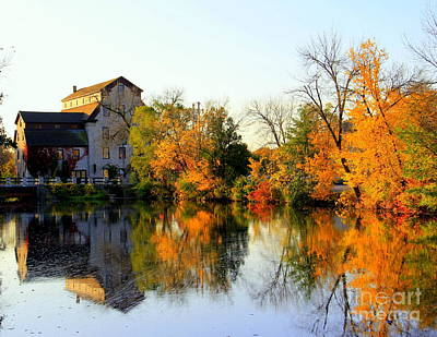 Feed Mill Photograph - Feed Mill Fall Glow by Carol Komassa