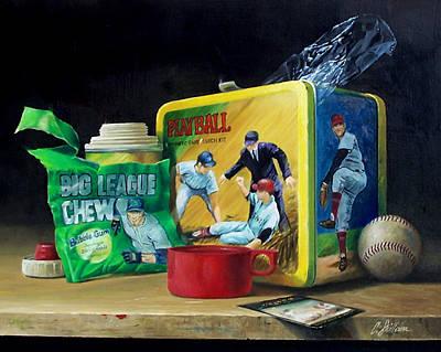 Baseball Art Painting - Feed The Dream by Craig Shillam