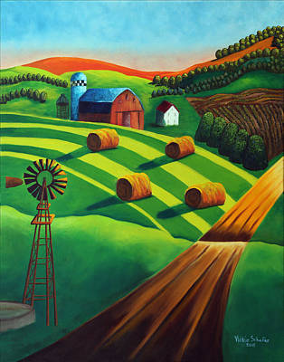 Bales Painting - Feed Your Soul by Vickie Schafer