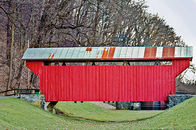 Feedwire Road Covered Bridge Print by Jack R Perry