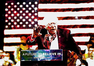 George Bush Mixed Media - Feel The Bern 2 by Brian Reaves