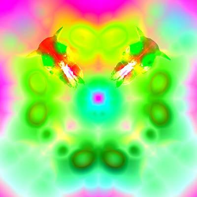 Kaleidoscope Digital Art - Feeling Groovy by Cheryl Harris-Dean