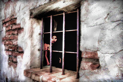 Brick Building Mixed Media - Feeling Trapped by Pennie  McCracken