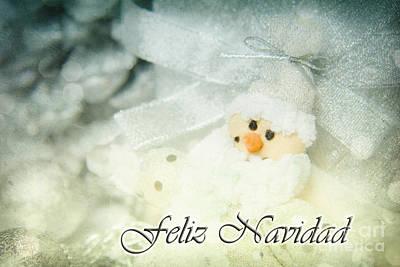 Feliz Navidad Print by Angela Doelling AD DESIGN Photo and PhotoArt
