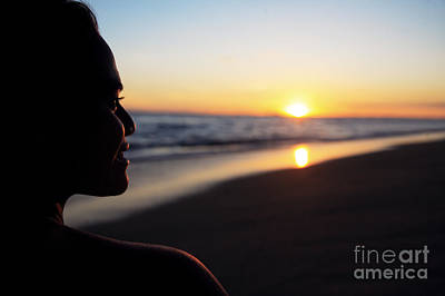 Female At Sunset Print by Brandon Tabiolo - Printscapes