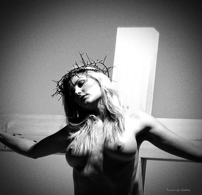 Female Christ Photograph - Female Christ On Cross by Ramon Martinez