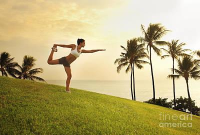 Female Doing Yoga Print by Brandon Tabiolo - Printscapes