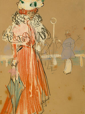 Female Figure In Red Print by Mountain Dreams