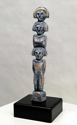 Female Figurine - Goddess Worship - Matronen - Matrone - Matrones - Matron - Nettersheim Eifel  Print by Urft Valley Art