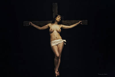 Female Jesus Print by Ramon Martinez