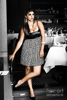 Female Waiter  Print by Jorgo Photography - Wall Art Gallery