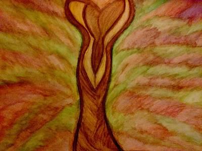 Pink Drawing - Feminine by Stephanie Zelaya