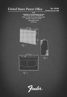Fender Amp 1962 Print by Mark Rogan