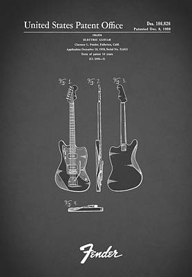 Fender Electric Guitar 1959 Print by Mark Rogan