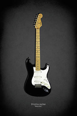 Guitar Photograph - Fender Stratocaster Blackie 77 by Mark Rogan