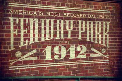 Boston Red Sox Photograph - Fenway Park 1912 - Boston Red Sox by Joann Vitali