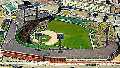 Fenway Park Baseball Stadium In Boston Ma In 1940 Print by Dwight Goss
