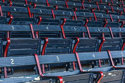 Boston Red Sox Photograph - Fenway Park Blue Bleachers by Susan Candelario