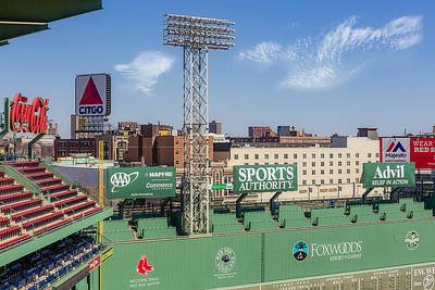 Boston Red Sox Photograph - Fenway Park Green Monster Wall by Susan Candelario
