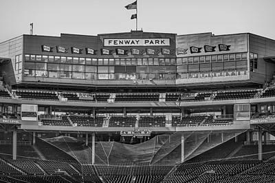 Boston Red Sox Photograph - Fenway Park Interior Bw by Susan Candelario