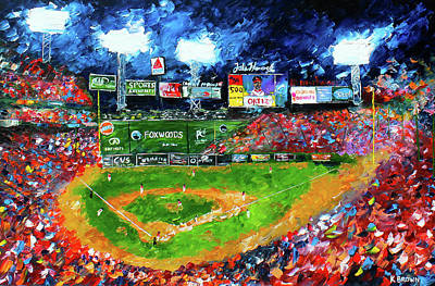 Fenway Park Painting - Fenway Park by Kevin Brown