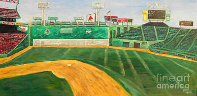 Baseball Parks Painting - Fenway Park by Kristin St Hilaire