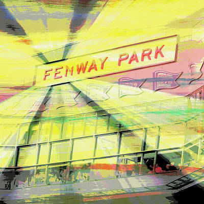 Fenway Park V2 Print by Brandi Fitzgerald