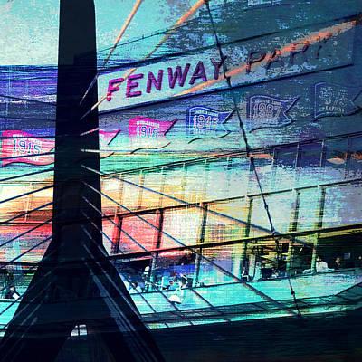 Fenway Park V4 Print by Brandi Fitzgerald