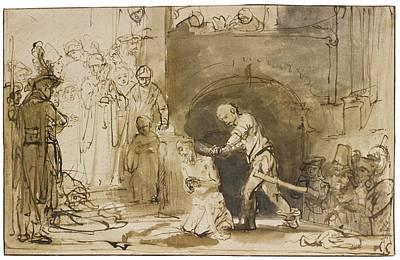 Beheading Painting - Ferdinand Bol The Beheading by John
