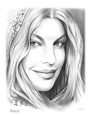 Hip Hop Drawing - Fergie by Greg Joens