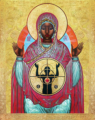Black Artist Painting - Ferguson Mother Of God. by Mark Dukes