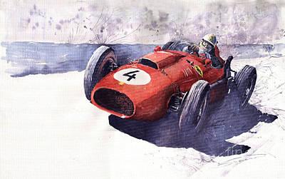 Ferrari 246 Mike Hawthorn Print by Yuriy  Shevchuk
