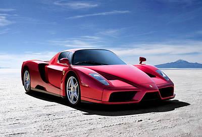 Sportscars Digital Art - Ferrari Enzo by Douglas Pittman