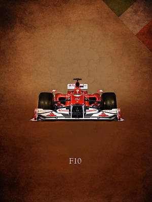 Motor Sports Photograph - Ferrari F10 by Mark Rogan