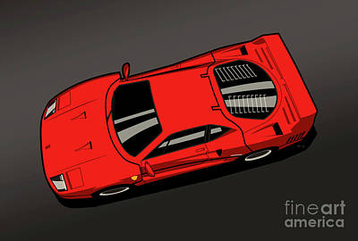 Ferrari F40 Red Original by Monkey Crisis On Mars