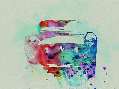 Ferrari Front Watercolor Print by Naxart Studio