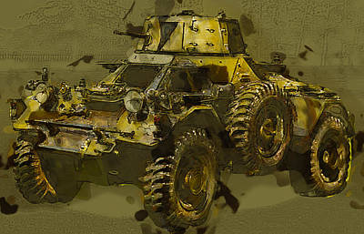 Historic Vehicle Mixed Media - Ferret Scout Car by Roy Pedersen