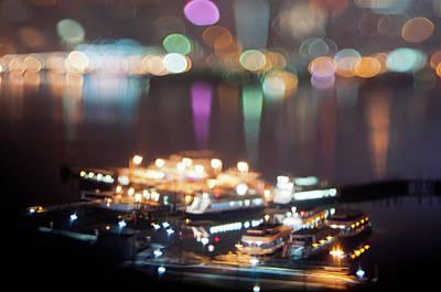 Miniature Nyc Photograph - Ferries by Daniel Lih