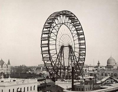 Photograph - Ferris Wheel, 1893 by Granger