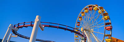 Ferris Wheel At Santa Monica Pier Print by Panoramic Images