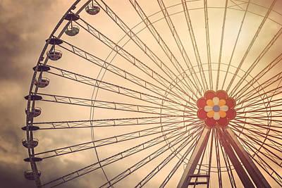 Ferris Wheel Prater Park Vienna Print by Carol Japp